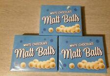 3 x white chocolate malt balls, maltesers malt balls