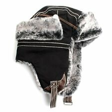 511a8968b95 Aviator Bomber Faux Fur Winter Ski Denim Trooper Trapper Ear Flap Ski Hat  Cap