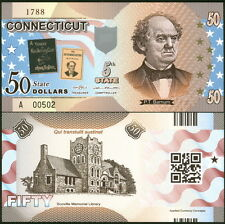 ACC STATE BANK NOTE SERIES: CONNECTICUT POLYMER FANTASY ART BILL P. T. BARNUM!