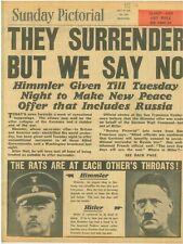 VE Day Berlin Burns Hitler Suicide Pact Himmler Surrender Goebbels 29 April 1945