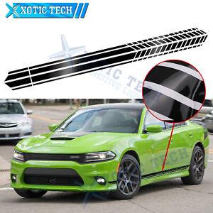 Auto Accessories Side Body Door Black Sport Racing Stripes Sticker For Dodge