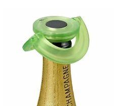 AdHoc GUSTO Champagne Prosecco BOTTLE STOPPER Green Plastic Silicone