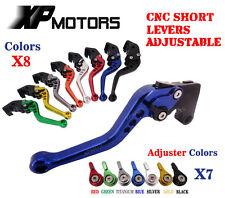CNC Short Brake Clutch Levers Yamaha FZ1 FAZER FZ6R FZ8 XJ6 FZ6 MT-07 09 FZ-09