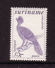 BIRDS on Stamps....  Surinam  5g curassawo  mint