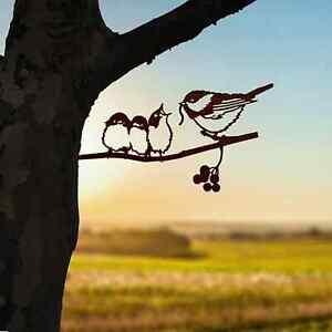 Metall Vogel Gartendekor Deko für Garten Hauswand Baum