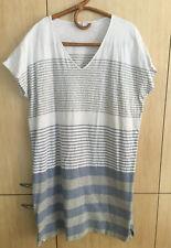 TRENERY Striped Summer Organic Cotton Knit Dress, Sz XXL
