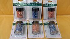 6 Fantasea Nail Art Glitter 3 Orange 3 Blue 10, 6 g / 0.21 fl. oz. New Free Ship