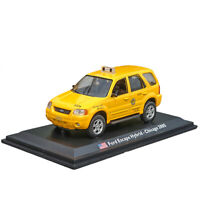1:43 Ford Escape Hybird Chicago Taxi Cab 2005 Model Car Diecast Collection Gift