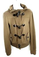 Nordstrom Rubbish Women's Jacket Size Medium Snap up Hooded Sweater Brown Career