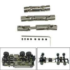 3PC Upgrade Parts Silver Metal Drive Shaft For WPL B-36 B-16 6WD 1/16 RC Car