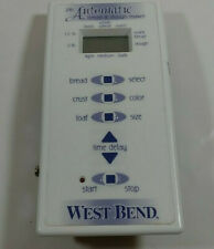 New listing Westbend 2 Lb Bread maker Control Panel model 41098
