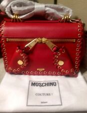 Authentic!! $1,980 MOSCHINO COUTURE Biker Genuine Leather Bag (New with Tag)!!