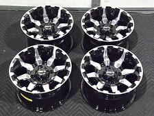 "12"" STI HD6 MACHINED & BLK ATV WHEELS COMPLETE SET 4  LIFETIME WARRANTY  IRS1CA"