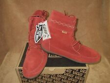 NEW VANS SURF SIDERS MARAKA SUEDE BOOT CINNABAR RED WOMEN'S 10