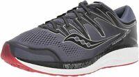 Saucony Men's Hurricane ISO 5 Running Shoe, Grey/Black, 7.5 D (M) US