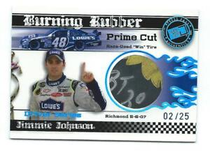2008 PP Jimmie Johnson Burning Rubber Prime Cut RUSED WIN TIRE #2/25 Spring RIR