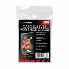(100) Ultra Pro grueso intercambio tarjeta mangas para extra hasta 130pts