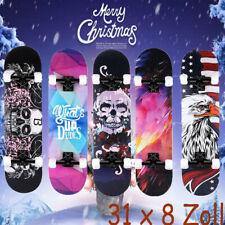 Skateboard 31''Cruiser Funboard Komplette Ahornholz Longboard Kinder ABEC7 Deck.