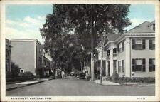 Wareham Cape Cod Ma Main St. Postcard