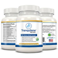 Tranquilene - Herbal Anti Anxiety Stress & Panic Supplement (3 Months, 180 Caps)
