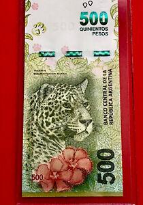 "NEW Argentina 500 Pesos P 365 2016 / 2020 , Suffix ""M"" , UNCIRCULATED"