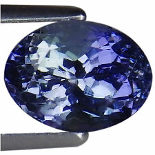 1.83 Ct A Natural D Block Tanzanite Gemstone Light Green Violet Color Oval Cut