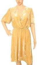 Isabel Marant Etoile $530 Women's Lynna Small Wrap Style Beige Velvet Dress M 36