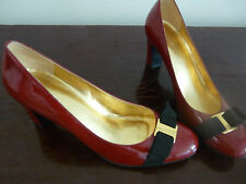 NINE WEST SCARLETT RED PATENT LEATHER SHOES SO SEXY SIZE 9.5M