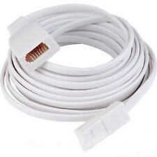 10M Landline BT Telephone Extension Cable Lead for Fax Phone white flat cable