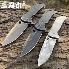SANRENMU Folding Knife Outdoor Camping Hunting Survival Cutting Pocket Knives