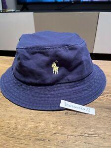POLO RALPH LAUREN CAP / BUCKET HAT ONE SIZE DARK BLUE / NAVY COLLOR 100% COTTON