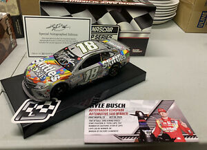 2020 Kyle Busch Skittles Zombie Texas Win Autographed 1/24 ARC Diecast 1 Of 60