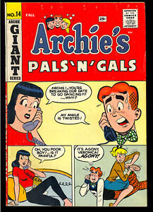 Archie's Pals 'n' Gals #14 Nice Silver Age Giant Teen Comic 1960 FN