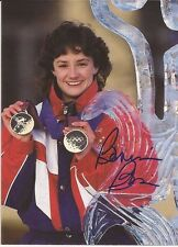 BONNIE BLAIR Hand Signed 4x5 1/2 Photo - Olympic Gold Speed Skater - Free S/H