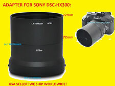LENS ADAPTER TUBE to CAMERA -> SONY DSC-HX300 72mm HX300  DSCHX300