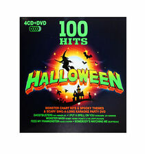 100 Halloween Hits (4 CD + DVD Set) Scary Music (100 Spooky Songs) Ghostbusters