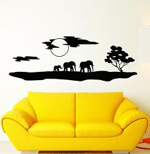 Wall Stickers Vinyl Decal Elephants Africa Animals Landscape Nature ig1535