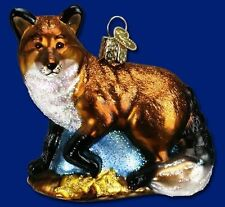Fox Ornament Glass Red Fox Old World Christmas 12189 22