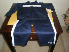 PUMA SIZE 24 MONTHS 2 PIECE TRACK JOGGING SWEAT SUIT BLUE & WHITE NEW WITH TAGS