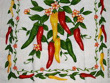 New Kitchen Dish Towels W Crochet Tops  #t255 Peppers