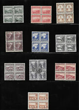 Newfoundland Very Scarce Used Blocks - 1923 Pictorial selection (10)