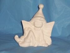 """Ceramic Bisque Ready to Paint """"Glisten"""" Winter Fairy ~~FREE SHIPPING"""