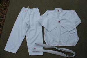 Choi Brothers White Size 6 = XL MENS Uniform Judo Taekwondo Martial Arts EUC!