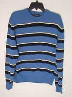 Mens Brooks Brothers Sweater Crew Neck Long Sleeve 100% Cotton Large Blue