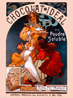 Chocolat Ideal French Nouveau Alphonse Mucha Vintage Advertisement Poster Print