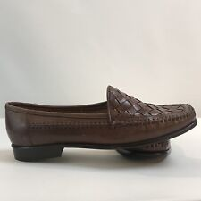Giorgio Brutini Brown Leather Weave Slip On Loafer Men's Shoe Size 8.5 M NWOB