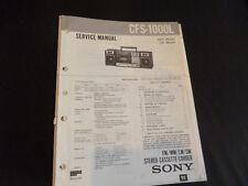 Original Service Manual Sony CFS-1000L
