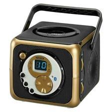 Jensen CD-555BG, Portable Bluetooth Music System, Black/Gold Limited Edition