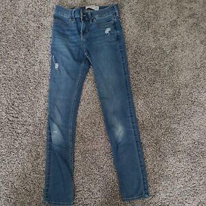 Abercrombie Kids Jeans Size 13/14 Super Skinny Slim Blue Jeans