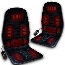 Zento Deals Car 12V Adjustable Temperature Massaging Seat Back Heated Cushion